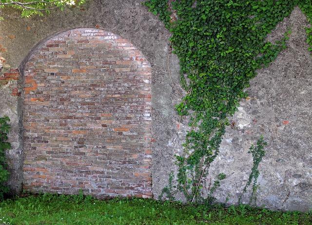 Free wall masonry goal door gate stone bricked up