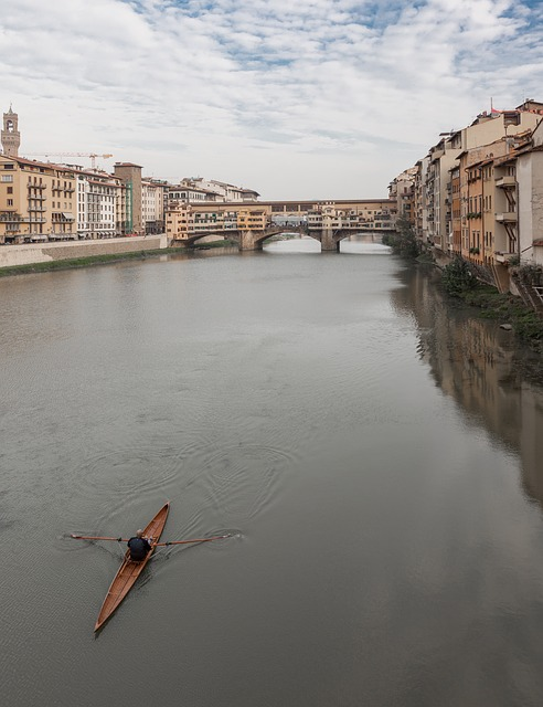 Free italy river florence architecture boat