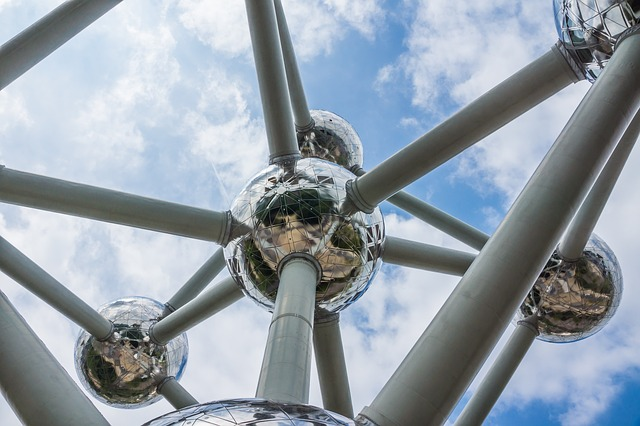 Free atomium brussels belgium city old town