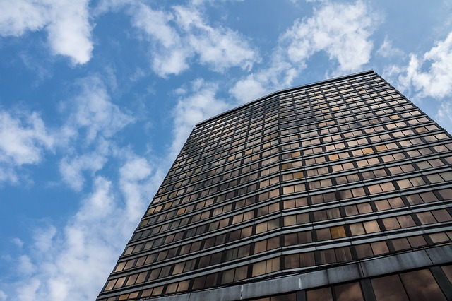 Free skyscraper office building glass window