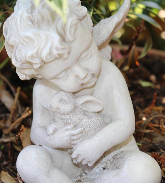 Free angel chalk figure sleeping harmony