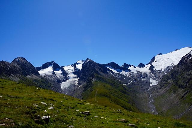 Free mountains alpine austria sky blue mountain meadows