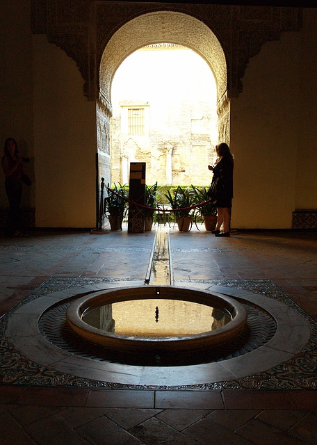 Free alhambra source water arc backlight muslim art