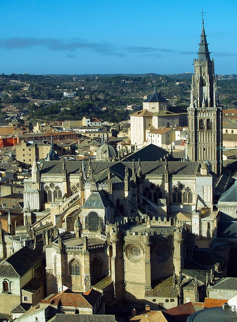 Free toledo spain panoramic city cathedral monuments