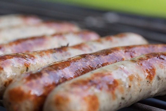 Free sausage bratwurst sausages barbecue grill heat