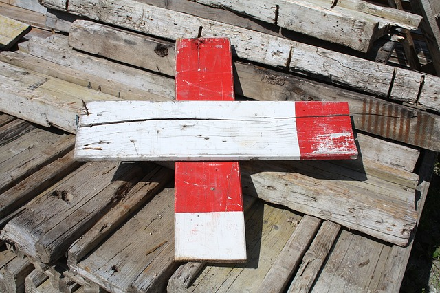 Free barrier battens wood timber red white mark