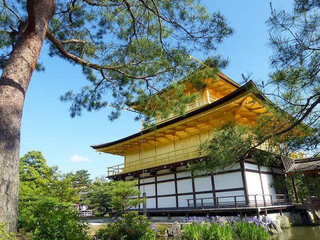 Free japan kyoto prefecture kinkaku golden pavilion