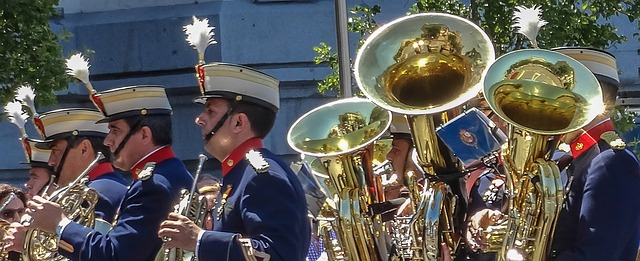 Free music band parade royal guard military in formation