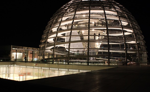 Free reichstag glass dome government building berlin