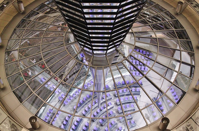 Free reichstag berlin government glass dome building