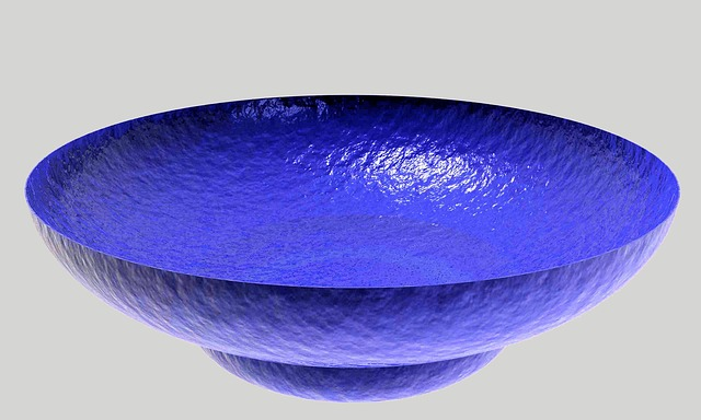 Free dish bowl glass colorful blue