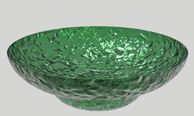 Free dish bowl glass green