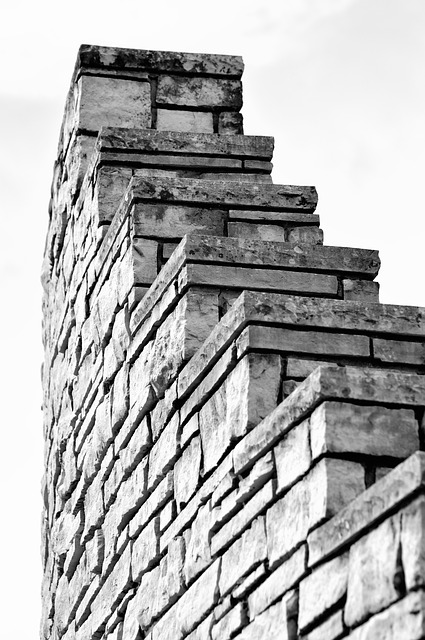 Free wall architecture stone design bricks monochrome