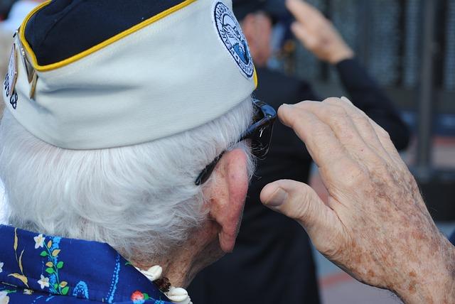 Free veteran vet pearl harbor survivor salute saluting