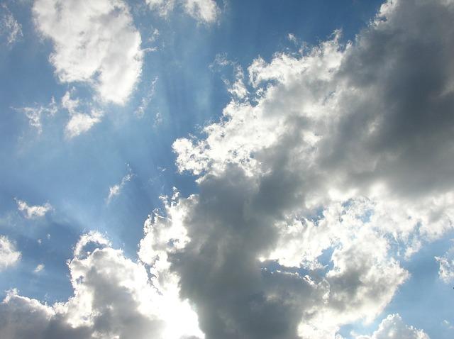 Free clouds sky blue