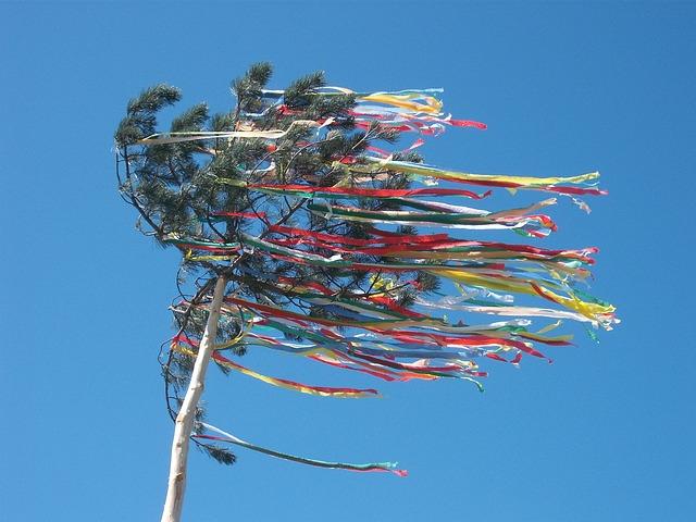 Free maypole celebration tree may holiday decoration