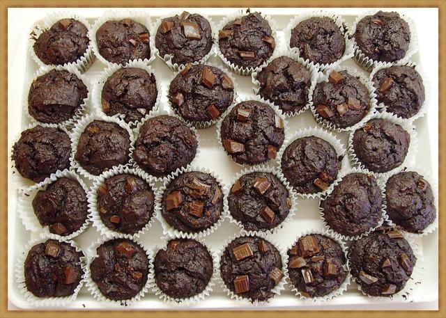 Free muffin chocolate chip muffins cake homemade