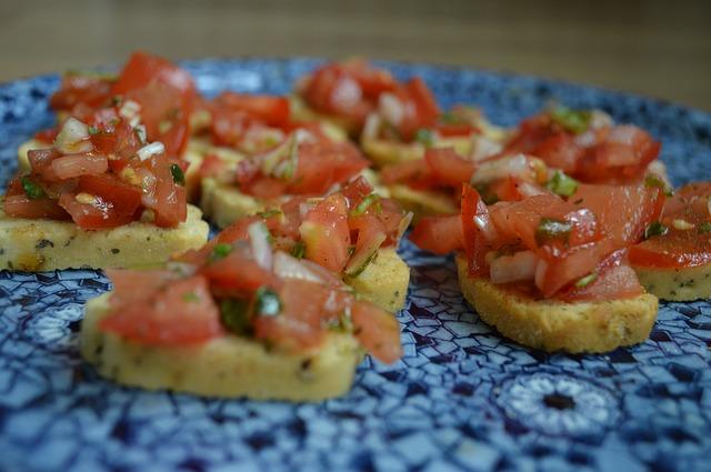 Free tomato bruschetta basil still life food italy