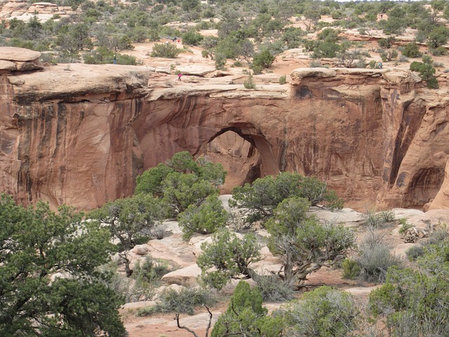 Free gemini bridges moab nature desert clouds sandstone