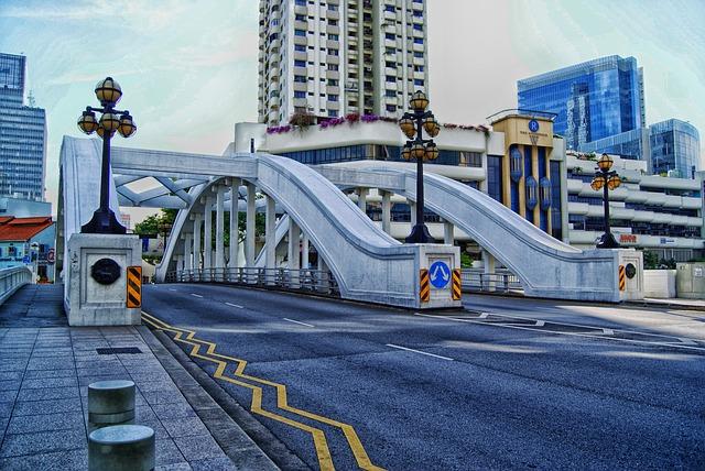 Free singapore city cities urban buildings bridge road