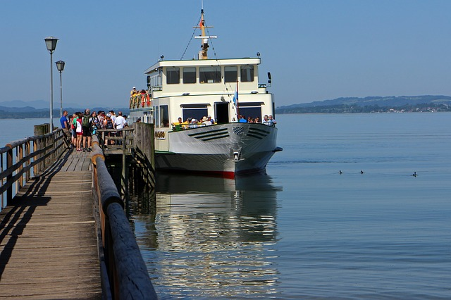 Free chiemsee ship pier jetty personal passengers