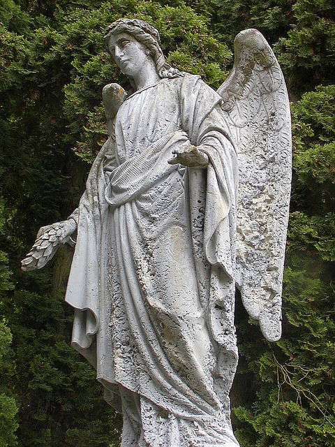 Free the statue of cemetery rest angel sadness