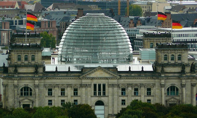 Free berlin reichstag government glass dome building