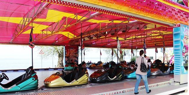 Free year market fairground bumper cars rorschach