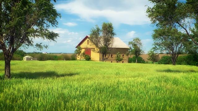 Free nebraska farm rural landscape scenic field