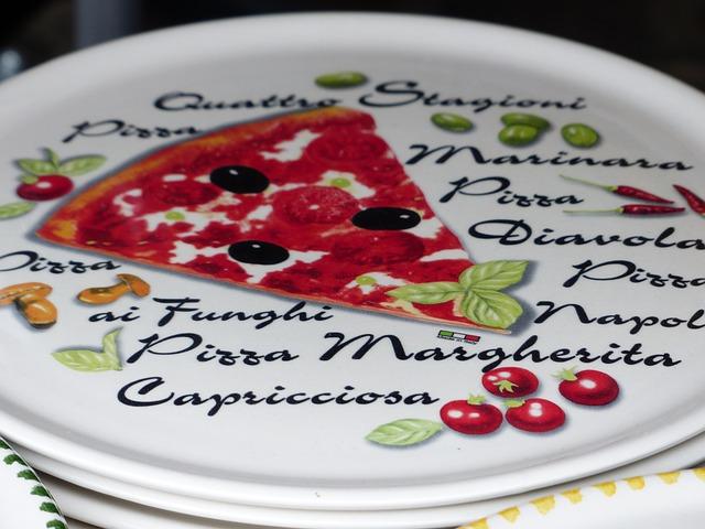 Free plate pizza plate italian ceramic porcelain