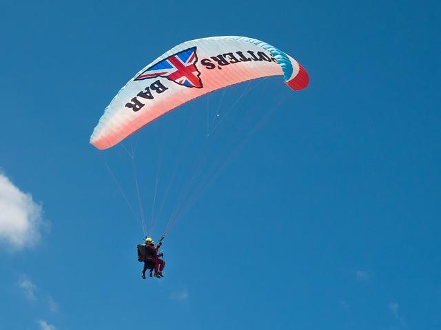 Free paragliding paraglider pilot floating sailing