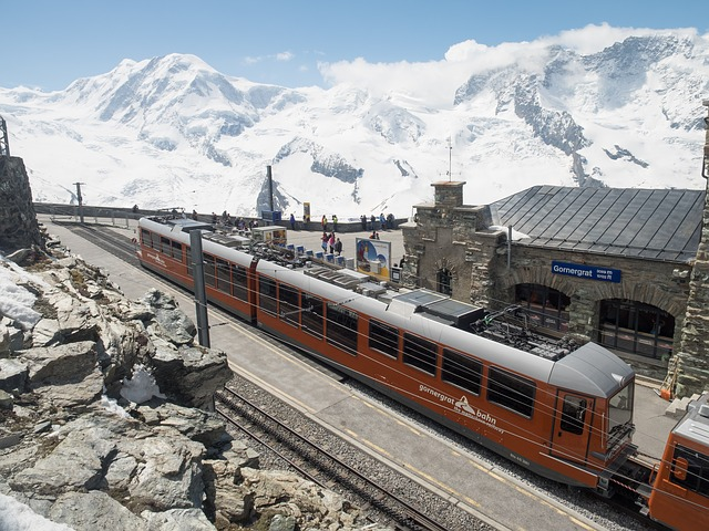Free gornergrat rack railway gornergratbahn switzerland