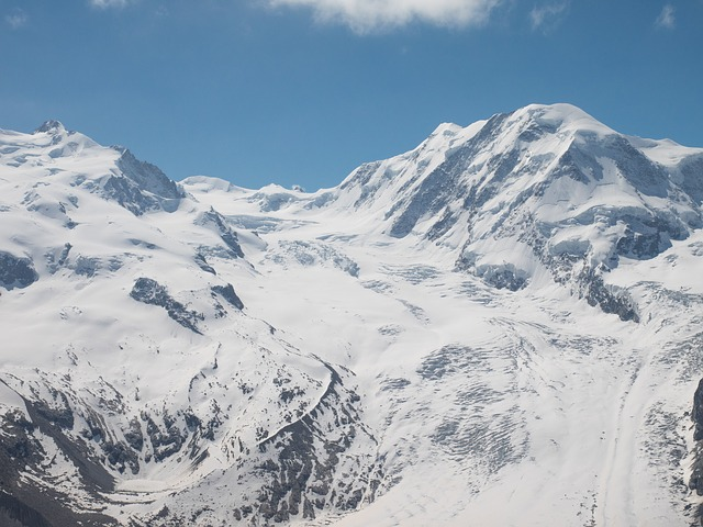 Free switzerland valais mountains monte rosa snow