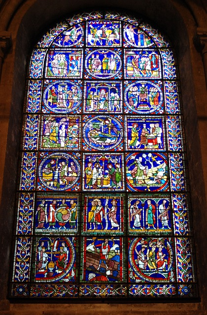 Free stained glass window cathedral religious