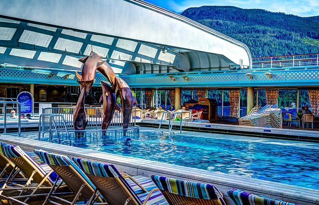 Free cruise ship deck of ship pool cruise luxury