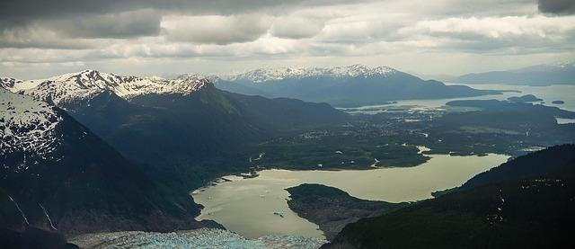 Free alaska mendenhall glacier scenic landscape