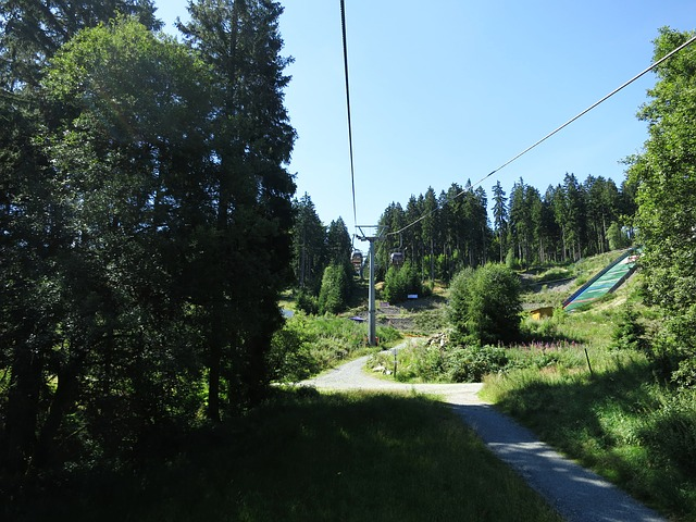 Free fichtelgebirge cable car forest holiday light