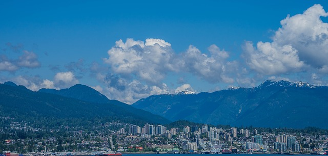 Free vancouver canada skyline city downtown buildings