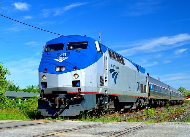 Free amtrak train transportation tracks rail