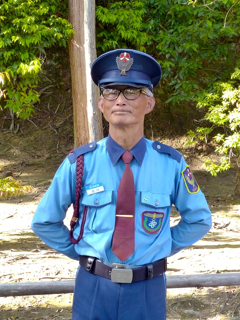 Free police japanese security guard smiling face