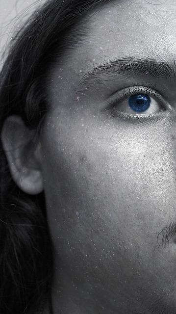 Free male man face blue eye dreamy dark hair