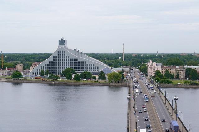Free riga latvia national library stone bridge