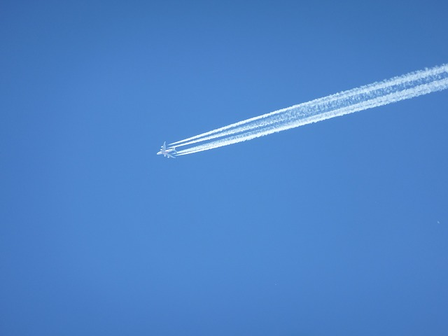Free contrail sky blue flight freedom clear