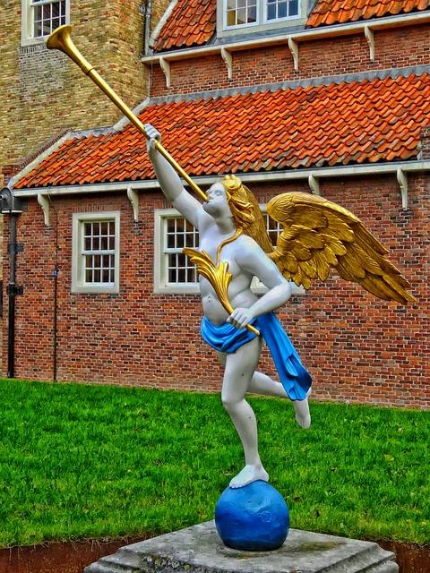Free netherlands sculpture artwork angel horn beautiful