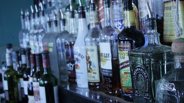 Free liquor bar alcohol cocktails drink liquor bottles