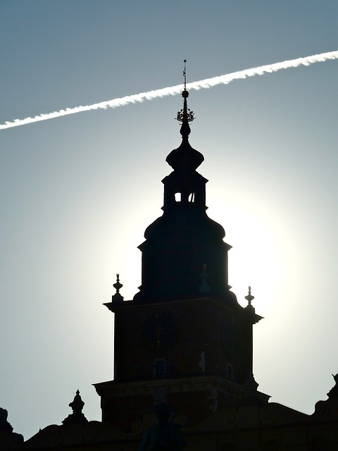 Free church krakow silhouette architecture building old