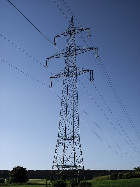 Free power line mast current power poles nature