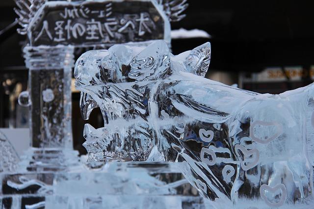 Free ice festival tiger beautiful ice ice sculpture