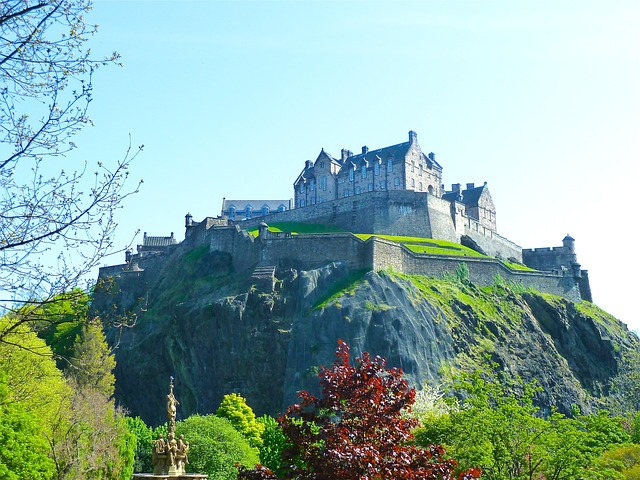 Free edinburgh scotland castle historical landmark