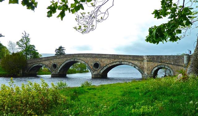 Free bridge arch river tourist attraction scenery